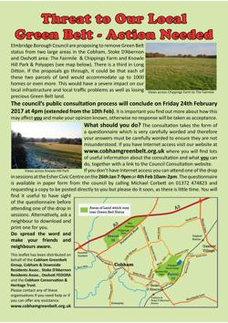 Threat to our Local Green Belt v11 grn