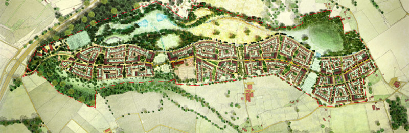 Proposed new town of 2100 homes