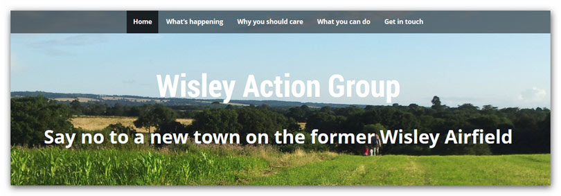 Wisley Action Group website