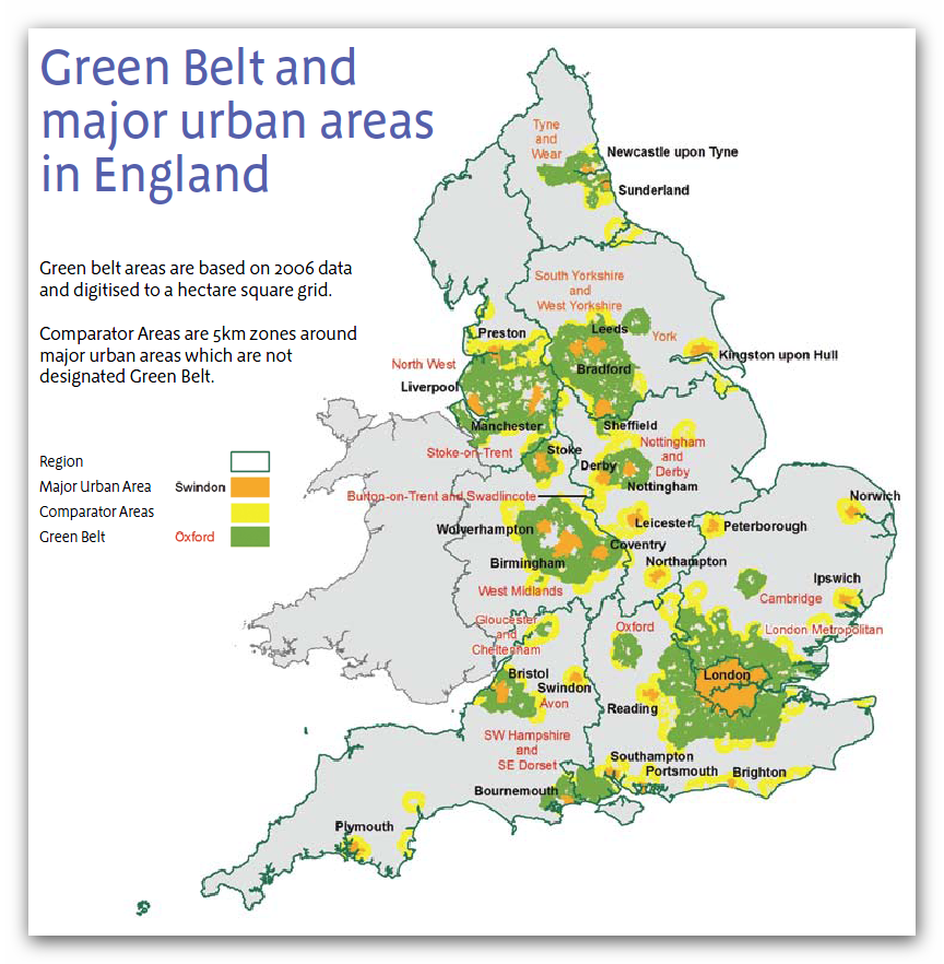 Green Belt Map Where is the Green Belt?   Cobham Green Belt